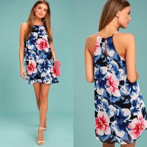 NWOT Lulu's Here and Luau Floral Print Swing Dress